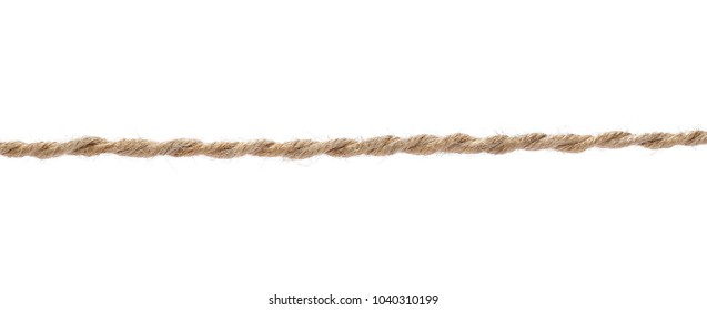 String, rope isolated on white background texture