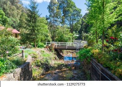 Stringers Creek West Branch runs through Walhalla in Gippsland, in eastern Victoria, Australia