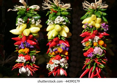 strings of peppers