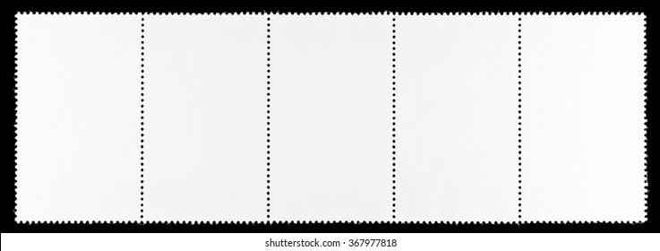 Strip of Blank Postage Stamps