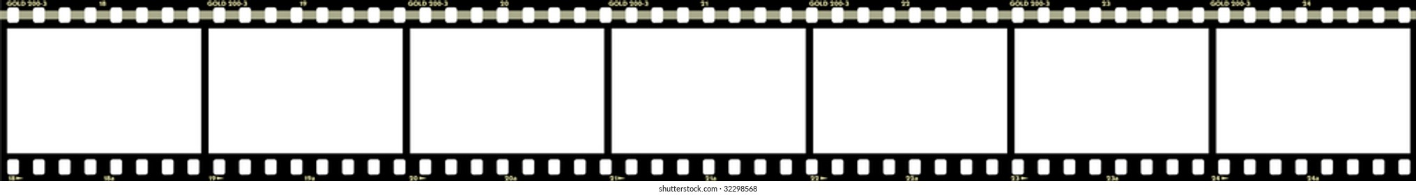 Strip film isolated on white