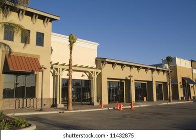 Strip Mall Under Construction