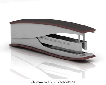 strip stapler isolated on white background