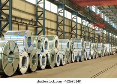 Strip steel production workshop