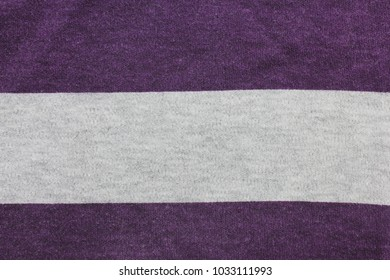 Stripe Lines Background of Purple and Gray Color Texture, Empty Template Backdrop. Natural Cloth Fabric Material, Striped Simple Pattern of Two Colors with Soft Grey in the Middle for Copy Space.