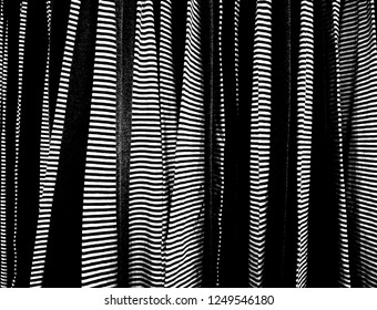 Stripe lines pattern of black and white clothes
