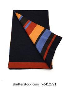 Stripe & Navy Scarf