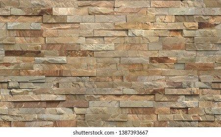 Stripe stone wall pattern, seamless texture.