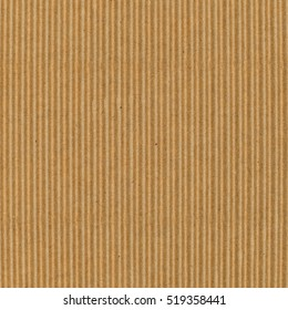 Striped brown cardboard for background or texture, top view