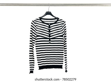 striped clothes on a hanger