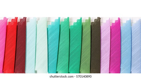 Striped fabric color card/Textiles and clothing industry background material