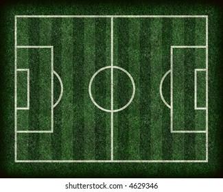 Striped Football/Soccer Field
