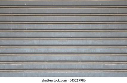 Striped gray steel door Horizontal Stripes