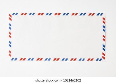 Striped post envelope