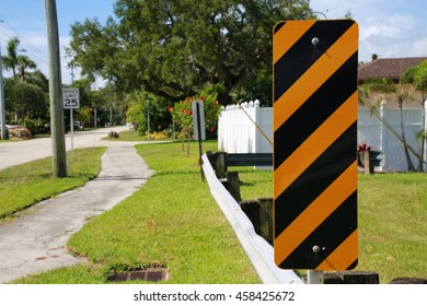 Striped Road Sign Frame Right