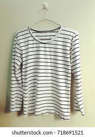 striped shirt hanging fashion clothing marine style