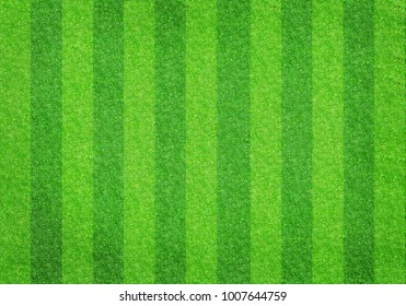 Striped soccer football grass field texture, background with copy space
