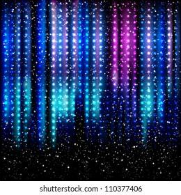 Striped spotlights background.