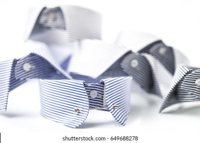 Striped White Collars