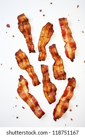 Strips of Bacon Displayed