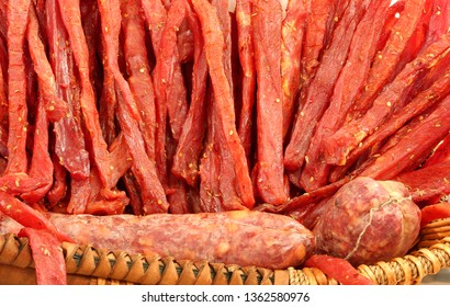 strips of meat seasoned with salt and spices called Coppiette Romane in Italian Language