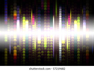 strips of shiny colored circles, abstract background