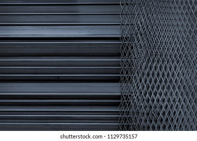 stript line and daimond iron steel for background