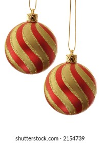 Stripy christmas balls