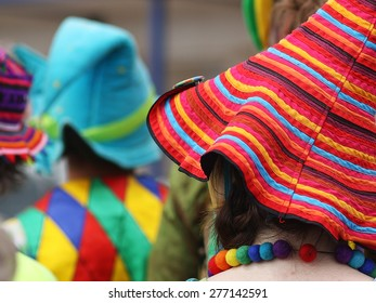 Stripy multicolored hat