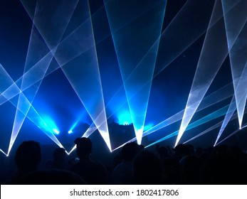 Strobe lights in a nightclub