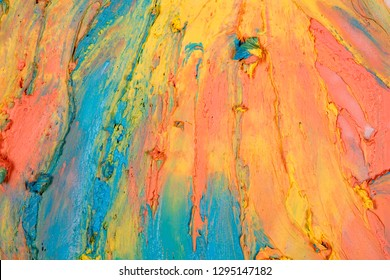 strokes of multi-colored paint