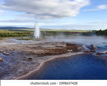 Strokkur in Haukadalur Iceland