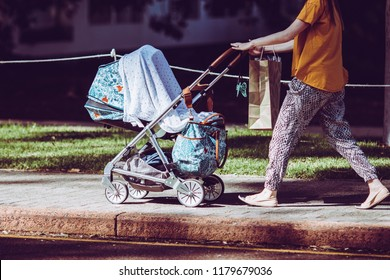 Strollers and mothers