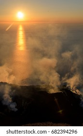Stromboli eruption, Italy