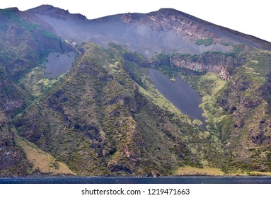 Stromboli island and active volcano,Aeolian islands,Italy,