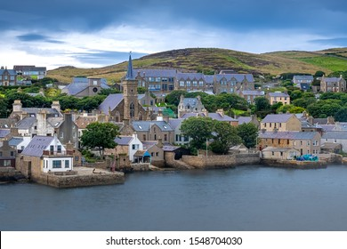 Stromness locally, the second-most populous town in Orkney, Scotland. - Shutterstock ID 1548704030