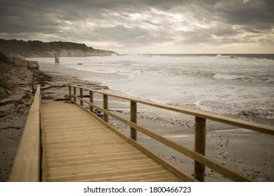 Stromy clouds over the mediterranean sea - Shutterstock ID 1800466723