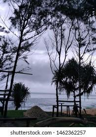 stromy day in pacitan beach - Shutterstock ID 1462362257