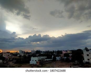 Stromy evening artful natural beauty sky - Shutterstock ID 1807422688