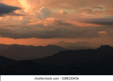 Stromy raining clouds beautiful sunset light - Shutterstock ID 1088230436