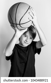 strong basketball player - black and white image