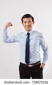 strong, confident, successful businessman corporate leader