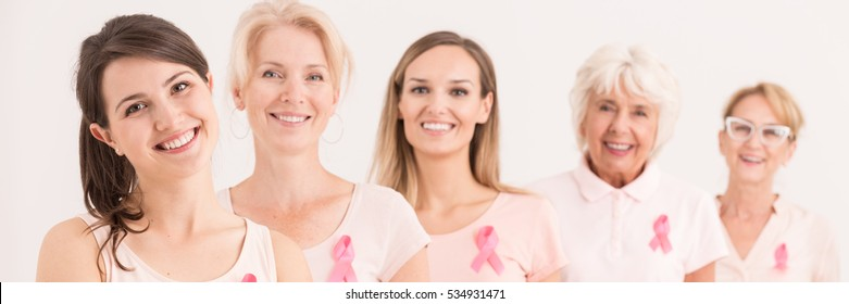 Strong female support group for breast cancer