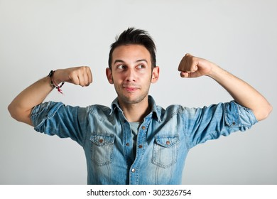 Strong funny man