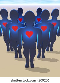 Strong group of heart people.. To see this entire series of heart people keyword: heart1people