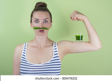 Strong and healthy with a wheatgrass power shot