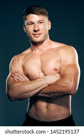strong male fitness body boxing torso naked