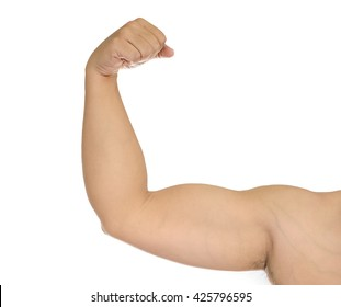 strong man arm isolated on white background