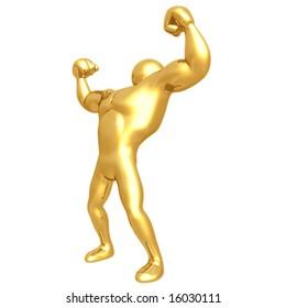 Strong Man Body Builder