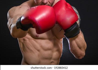 strong man boxing